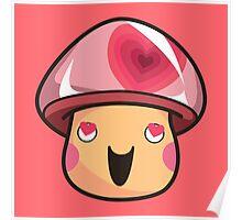 Lovey Mushroom Poster