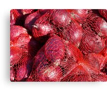 Food - red onions Canvas Print