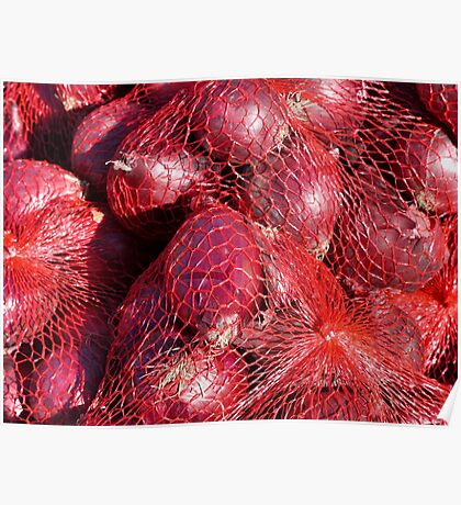 Food - red onions Poster