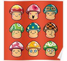 The Mushroom Friends Poster