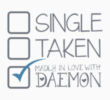 SINGLE TAKEN Madly in love with DAEMON Kids Clothes