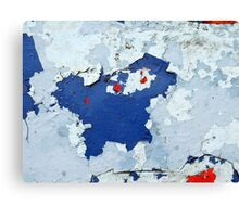 shades of blue and red Canvas Print