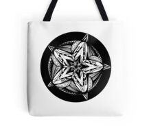 Star Tangles 5 Black - an Aussie Tangle by Heather - See Description Note for Colour Options Tote Bag