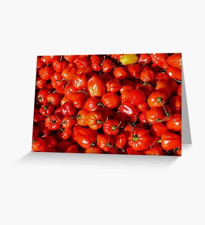 Food - small red peppers Greeting Card