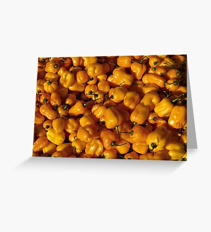 Food - small yellow peppers Greeting Card