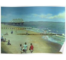 Cleethorpes Beach from the Promenade Poster