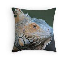 Icy Iguana Throw Pillow