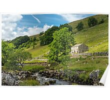 Barn in Wharfedale in the Yorkshire Dales Poster