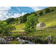 Barn in Wharfedale in the Yorkshire Dales Photographic Print