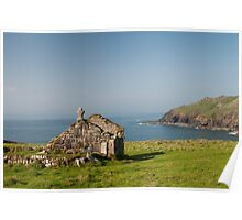St Helens Chapel Cape Cornwall Poster