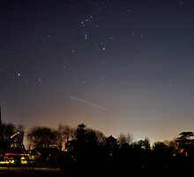 International Space Station  over Ireland and under Orion by amuigh-anseo