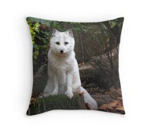 foxy arctic fox Throw Pillow