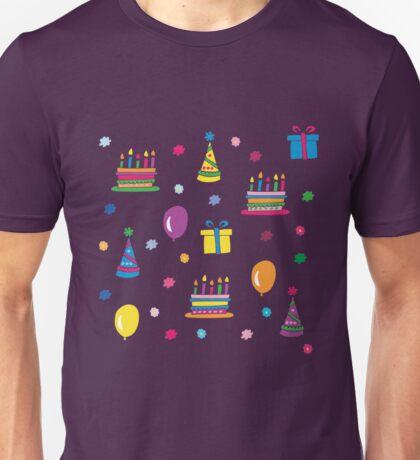 Colorful Birthday Unisex T-Shirt