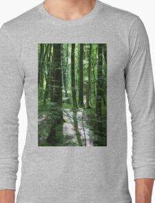 Magic In The Woods In Dorset Long Sleeve T-Shirt
