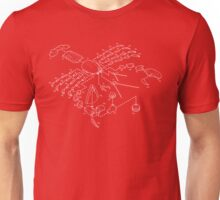 Exploded View Lobster Design Unisex T-Shirt
