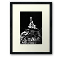 Eiffel Tower Restaurant Framed Print
