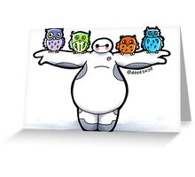 Baymax with Owls Greeting Card