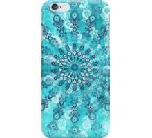 turquoise mandala iPhone Case/Skin