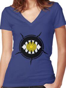 World Trigger - Neighborhood Emblem Women's Fitted V-Neck T-Shirt