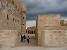 Walking at The Qaitbay Citadel In Alexandria   by Lucinda Walter