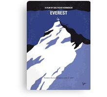 No492 My Everest minimal movie poster Canvas Print
