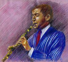 Pupi Avati Jazz Musician 2 by Francesca Romana Brogani