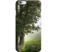 Foggy day in the countryside iPhone Case/Skin