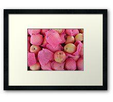 Food - delicate apples Framed Print