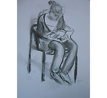 Martha is reading Photographic Print