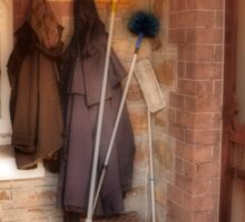 Coats and Brooms Sticker
