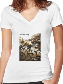 Froome Dog Women's Fitted V-Neck T-Shirt