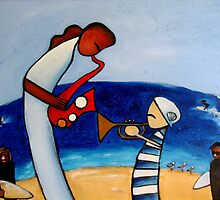 Duet on the Beach by Midori Furze