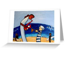 Duet on the Beach Greeting Card
