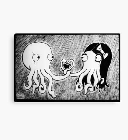 Octopus Love Canvas Print