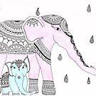 Pink Elephant, Blue Elephant by Devi Senthil
