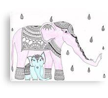 Pink Elephant, Blue Elephant Canvas Print