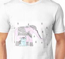 Pink Elephant, Blue Elephant Unisex T-Shirt