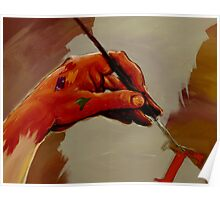 Hand Painted Painted Hand Painting Traditional Painting  Poster