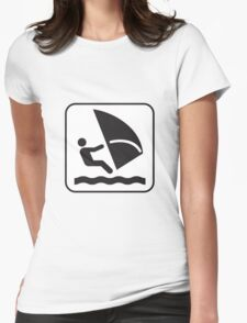 Surf Riding Womens Fitted T-Shirt