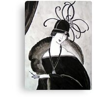 """*Ritzy"" Roaring Twenties Lady with cloche Canvas Print"