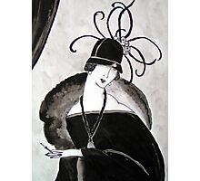 """""""*Ritzy"""" Roaring Twenties Lady with cloche Photographic Print"""