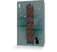 Animal's Nightlife - Urban Cat Greeting Card