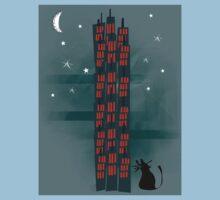 Animal's Nightlife - Urban Cat One Piece - Short Sleeve