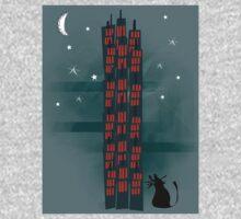 Animal's Nightlife - Urban Cat Kids Tee