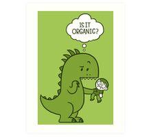 Organic Dinosaur Art Print