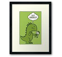 Organic Dinosaur Framed Print