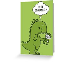 Organic Dinosaur Greeting Card