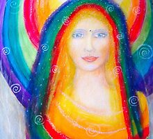 Rainbow angel by Lilaviolet