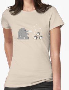 Elephants & Penguins love bubbles. Womens Fitted T-Shirt