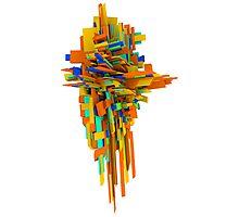 Coloured Blocks Photographic Print